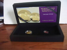 More details for 2021 queens 95th birthday 24 carat gold proof sovereign fractional 2 coin set