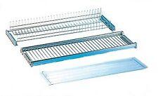 kit mensola colapiatti in acciaio cromato regolabile 86 cm con supporti in plast