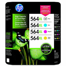 4 Color Set Genuine HP 564 XL Photo C M Y Ink Cartridges For Photosmart B8500