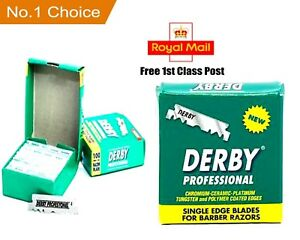 Derby Professional Premium |100 Single Edge Razor Blades | Pro Straight Edge
