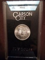 1882 CC Carson City Morgan Silver Dollar GSA Hoard COA Box MS63