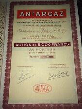 ANTARGAZ  Vers 1960 ACTION AU PORTEUR