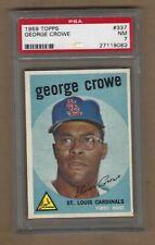 1959  TOPPS   GEORGE  CROWE  #  337   PSA  7