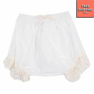 CUCU' LAB Bloomers Size 12M Lace Cuffs Made in Italy