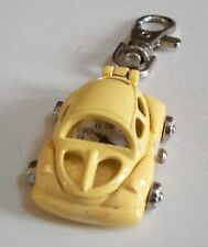 Boy's or girl's Cool Yellow Car clip on keychain fashion watch