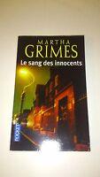 Martha GRIMES - Le sang des innocents - Pocket