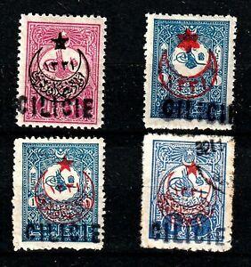 CILICIE N° 5/6 + 8/9 Neufs*/Oblitérés. Colonies Françaises Cote 35 €