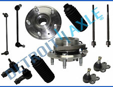 2005-2007 Chevy Equinox Pontiac Torrent Front Wheel Bearing Hubs Tie Rod Kit