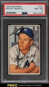1952 Bowman Mickey Mantle #101 PSA 8 NM-MT
