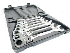 """8pc Imperial SAE AF Flexible Ratchet Ring Spanner Set 5/16"""" -3/4""""  New TZ SP153"""