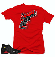 Shirt to Match Jordan 14 Last Shot Sneakers.9 MM Red Tee