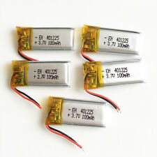5 x 100mAh 3.7V LiPo polymer recharge Battery 401225 For Mp3 headset bluetooth