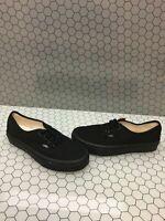 VANS Lo Pro Classic All Black Canvas Lace Up Skate Shoes Men Size 5  Women's 6.5