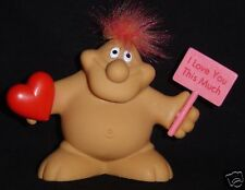 """I LOVE YOU THIS MUCH Chubby Man Troll Doll NEW 3"""""""