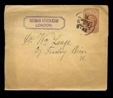 GB QV STATIONERY 1894 GERMAN ATHENAEUM CLUB
