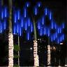 Meteor Shower Falling Star Rain Drop Icicle Snow LED Xmas Tree String Light Prop