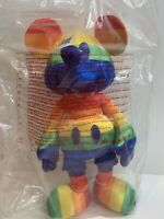 Disney ~ Rainbow Mickey Mouse Satiny Plush Limited Edition Collectible NWT
