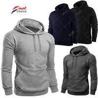 Mens Plain Hooded Hoodie Hoody Casual Gym Workwear Top Jumper Sweatshirt »