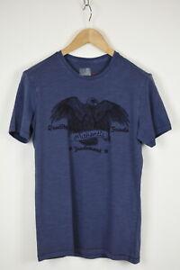 MARKS & SPENCER SUPER SLIM FIT Men MED Eagle Print Short Sleeve T-Shirt 34767_GS