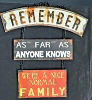 """Wall Hanging for Nice Normal Family - All Metal - 18 1/2"""" x 13 3/4""""- Funny!"""