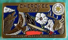 Cherokee Original Swag Geocoin - Bronze Finish - New Unactivated Geocoin