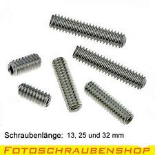 """1/4""""- Edelstahl-Gewindestifte-Set 13, 25 und 32 mm (Madenschrauben, Zollstifte)"""