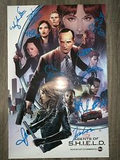 Agents Of Shield Cast Signed Comic Con Poster Photo Proof