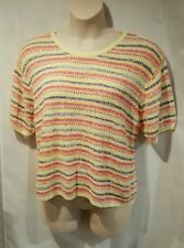 "Women's Size 1 ""Elizabeth"" by Liz Clairborne Multi Color Striped Sweater"