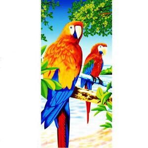100% cotton cute parrots towel 28*59