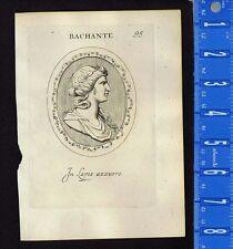 Ornate BACCHANTE-MAENAD-BACCHUS-Pl. 95 Leonardo Agostini-Battista-1685 Engraving