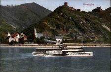 Bornhofen ~1910/20 Burg Ruinen Sternberg Liebenstein Schiff Rhein Dampfer AK