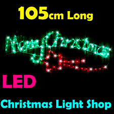 Merry Christmas Outdoor Christmas Ropelight Xmas Rope Light LED 105 x 40cm