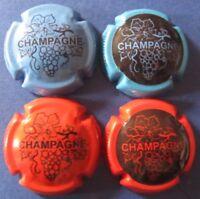 lot de 4 capsules de champagne génériques  n°780d à 780g