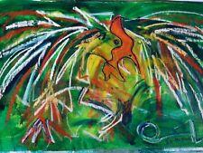 Neith Nevelson, Oil on canvas, 18x32
