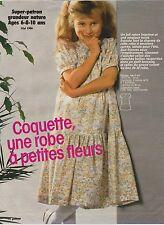 Super patron Prima Mai 1986 Robe Fillette 6 - 8 - 10 ans
