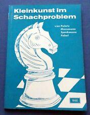 1963 Kleinkunst Schachproblem German Karl Fabel Chess Vintage Book Rare
