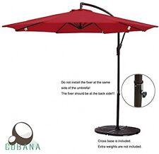 COBANA 10' Offset Hanging Patio Umbrella Freestanding Outdoor  Red 250g/sqm