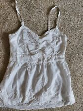 Womens F&F Top size small white summer holiday casual strappy vgc