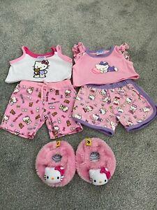 Bear Factory / Build A Bear Set of 2 Hello Kitty Pyjamas and Slippers