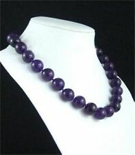 "Beads Gemstone Necklace 18""#Zy3508 New! 10mm Russican Amethyst Round"