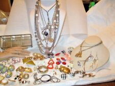 Vintage Jewelry Lot, 60+ Pcs, Necklace, Earrings, Bracelets, Some Signed
