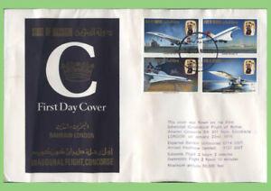 Bahrain 1976 Concorde set on FlownFirst Day Cover, Bahrain - London