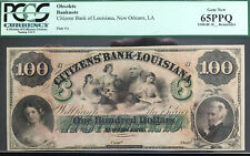 New Orleans, Louisiana - Citizens' Bank $100 Colorful Remainder GEM 65 PPQ