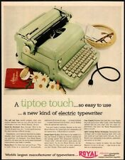 1954 ROYAL Green Portable Typewriter - Secretary - Office - Original VINTAGE AD