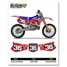 1995-1996 HONDA CR 250 Number Plate Dirt Bike Graphics TLD By Enjoy MFG