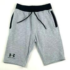 Under Armour Heatgear Mens Shorts Gray Space Dye Loose Fit Drawstring Pockets S