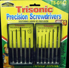 11 PIECE PRECISION MINI SCREWDRIVER SET HANDY TOOLS WITH CARRY CASE AND MAGNET