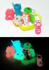 Glow in the Dark Erasers - 8 different designs - Glowing School Supply