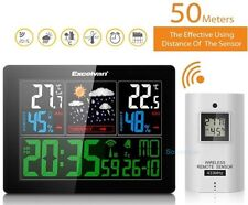 Wireless Thermometer Hygrometer Weather Station Temperature Humidity Clock Alarm