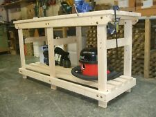 New hand made 6FT solid heavy duty, wooden work bench